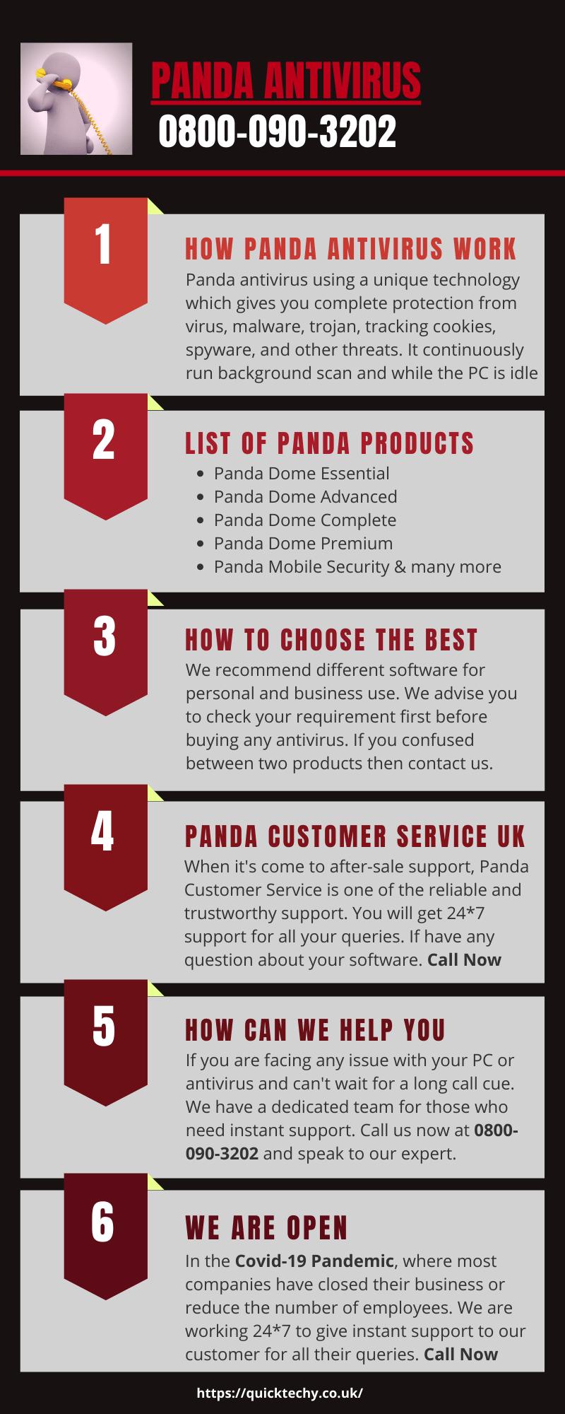 Panda Customer Service UK | 0800-090-3202